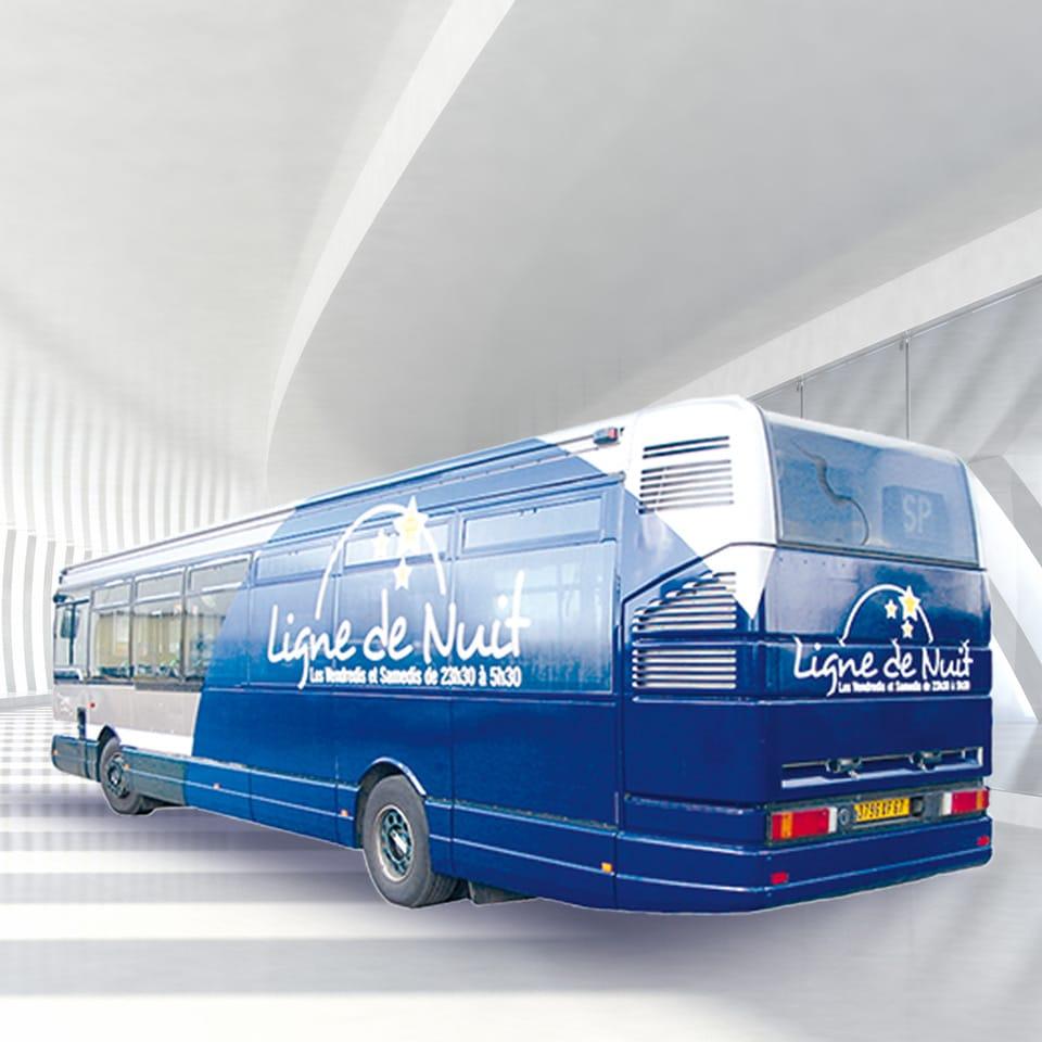 Covering partiel bus Ligne de Nuits